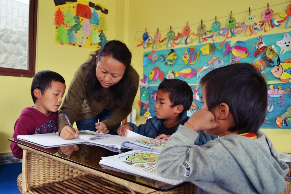 Teacher Mamta's class